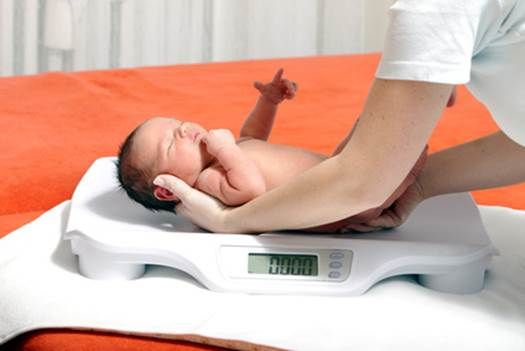 Problems of baby's weight should be noted