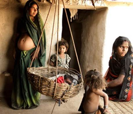 In developing countries, women give birth without plan. They bear too many children with too short time between each time.