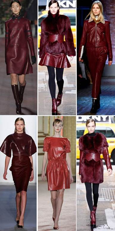 Red leather material