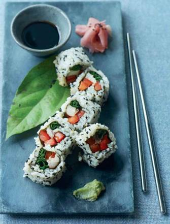 Smoked Mackerel Sushi Rolls