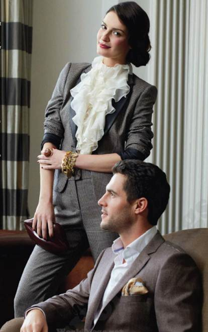 Description: Wear a well-cut trouser suit with a pretty blouse for the perfect work to evening look, or mix and match as separates.