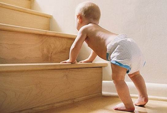 Description: Children who practice crawling/ walking easily have accidents related to falling.