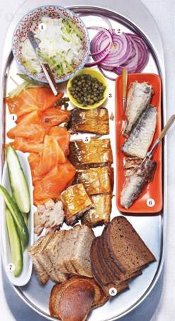 Description: Traditional Nordic cuisine features cured and smoked fish and dark bread, and is now being studied for its health-giving properties.