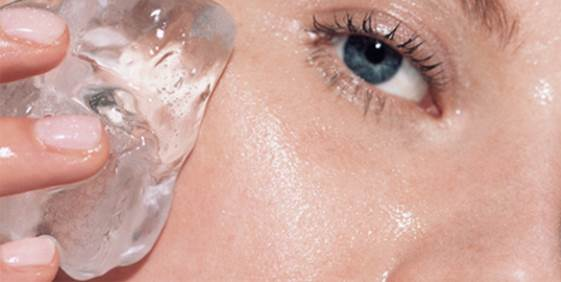 Description: The simplest way is to wrap some ice cubes in a cloth and rub around your eyes. The cold steam will make you feel refresh and helps to reduce puffiness under the eyes.