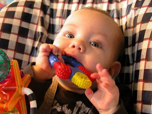 Description: Try teething rings or toys for the teething babies
