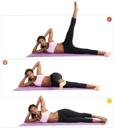 Description: Rond de jambe / works butt, legs, and core