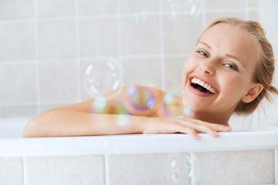 Description: Avoid using soap, body wash or lotion when bathing.