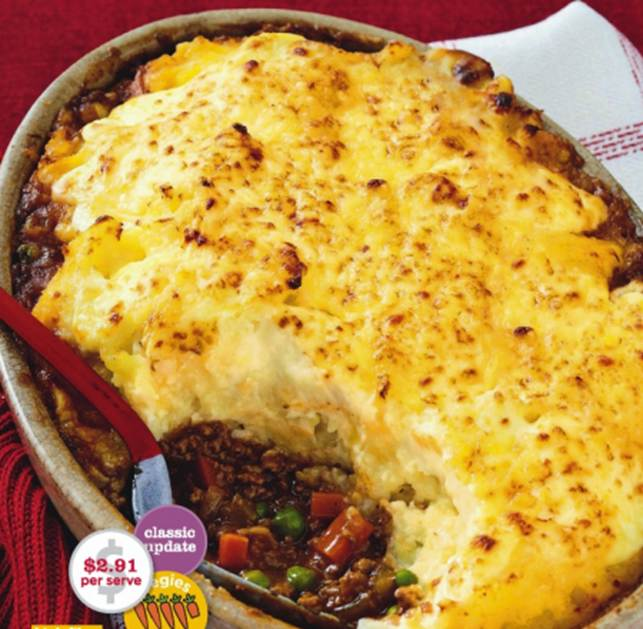 Italian Cottage Pie With Cauliflower Cheese Mash