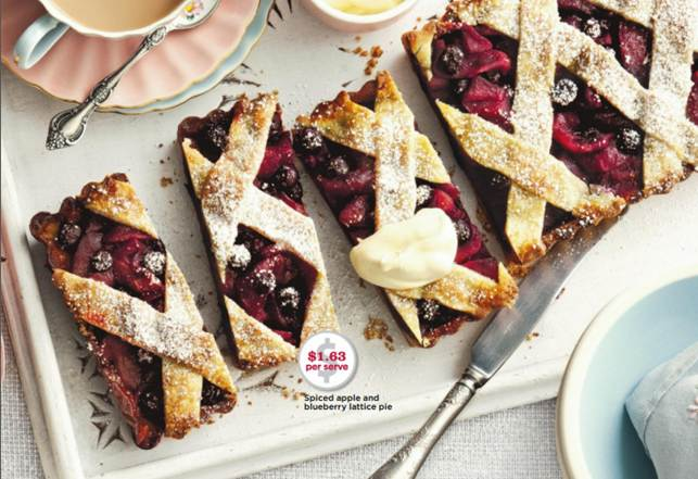 Spiced Apple And Blueberry Lattice Pie