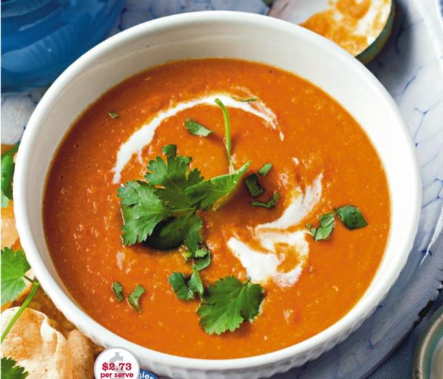 Carrot, Lentil And Coconut Soup